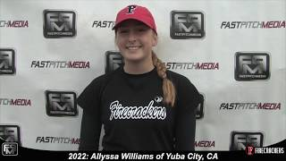 2022 Allyssa Williams Pitcher and First Base Softball Skills Video - Firecrackers