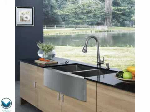 Video for 33-Inch Farmhouse Stainless Steel 16 Gauge Double Bowl Kitchen Sink