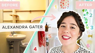 6 Renter-Friendly Tips To Upgrade Your Bathroom • Alexandra Gater