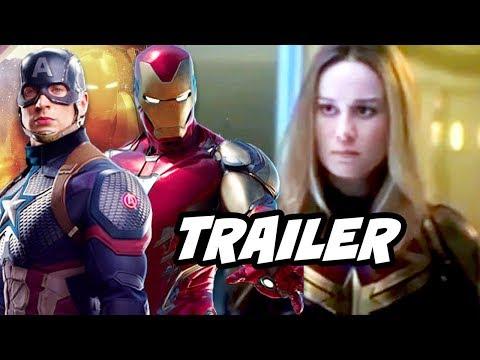 Avengers Endgame Trailer 2 Captain Marvel Scenes Breakdown