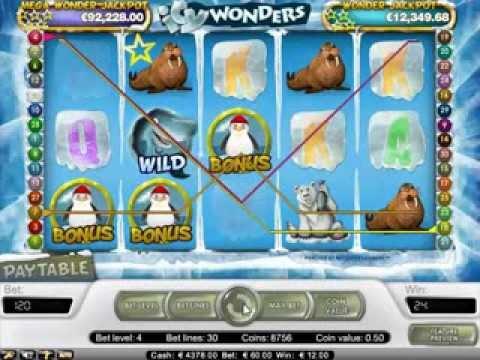 Icy Wonders Slots with Penguin Bonus Round Hit