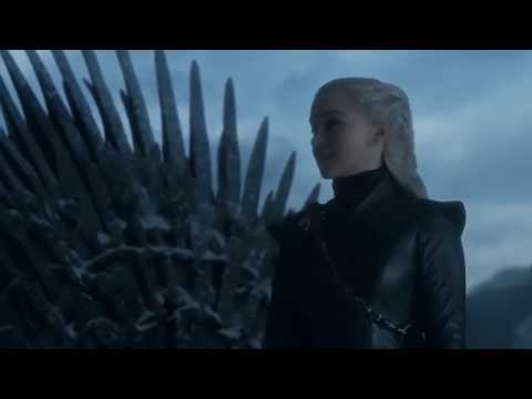 Game of Thrones 8X6 - Danerys Death- Daenerys in front of the Iron throne
