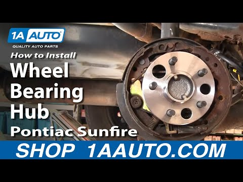 How To Install Change Rear Wheel Bearing Hub Chevy Cavalier Pontiac Sunfire 1AAuto.com