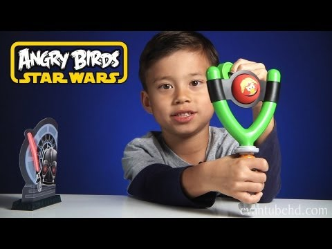 Angry Birds STAR WARS Jedi Slingshot Koosh Toy – TOTAL DESTRUCTION!