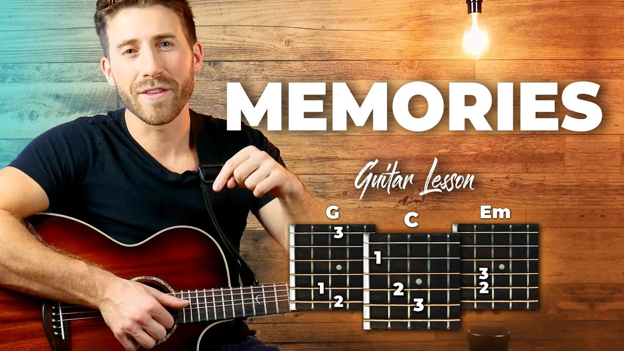 Memories – Maroon 5 Guitar Tutorial (Lesson) For Beginners // Easy Chords