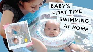 Video BABY XABIRU'S FIRST TIME SWIMMING AT HOME MP3, 3GP, MP4, WEBM, AVI, FLV Februari 2018