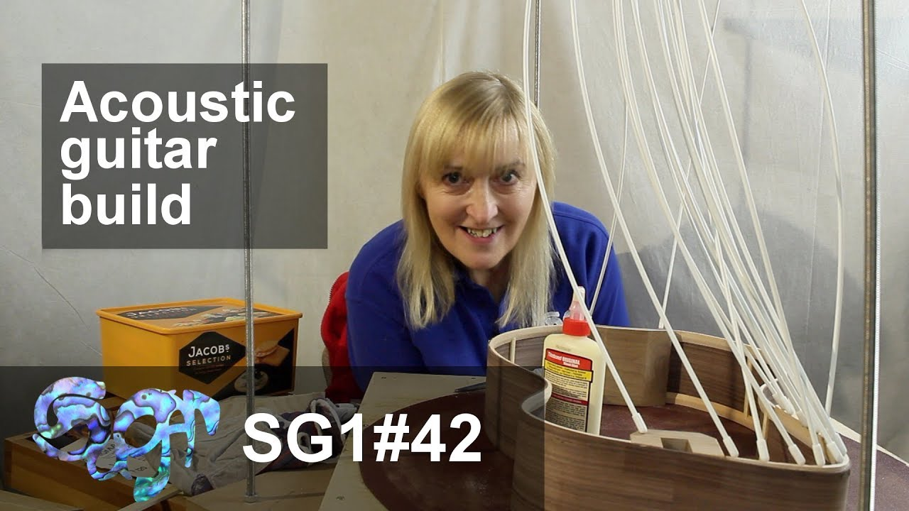 SuGar SG1 acoustic guitar build part 42:Radiusing the front and back