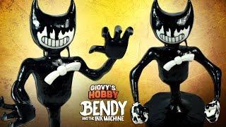 Handmade MONSTER BENDY (Alpha Version) ➤ Bendy and the ink machine (BATIM) ★ Polymer clay Tutorial