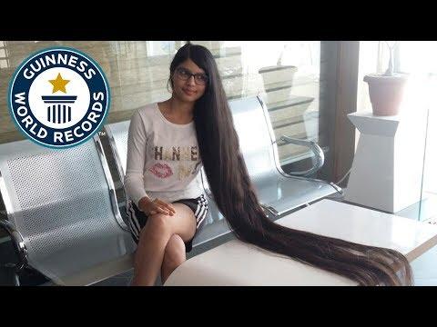 شاهد..فتاة هندية تدخل موسوعة غينيس بأطول شعر في العالم