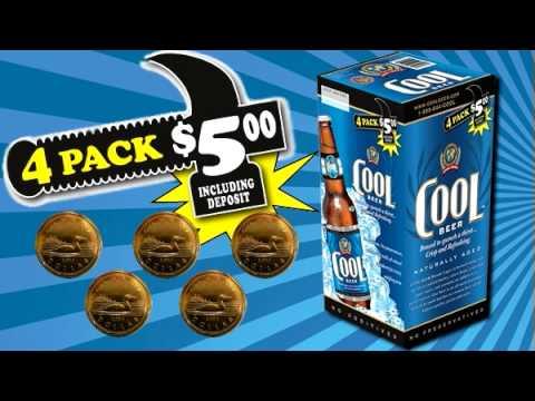 COOL BEER COMMERCIAL - SUPER BOWL 2010 - 4 for $5