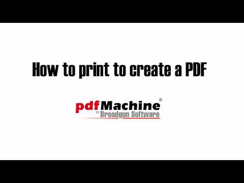 Print to convert to PDF using pdfMachine