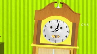 Hickory dickory Dock - 3D Animation English  Nursery Rhymes for children with Lyrics