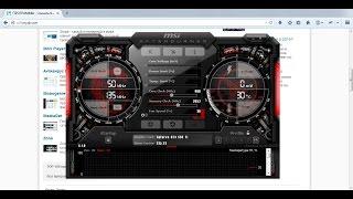 Как разогнать видеокарту с помощью MSI Afterburner