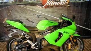 10. 2005 Kawasaki Ninja ZX-6R Lime Green Stoic Flat Black