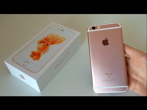 Rose Gold iPhone 6s Unboxing, Setup + Hands On (128GB)