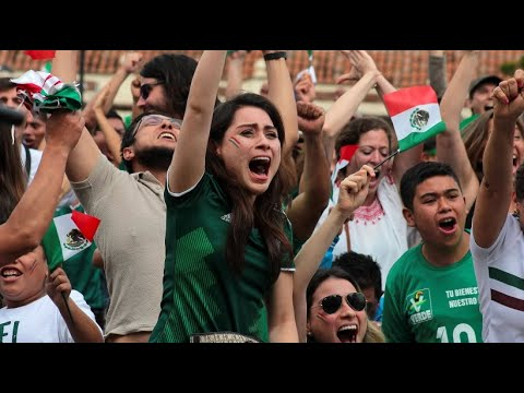 Mexikanische Fans nach Auftaktsieg gegen Deutschland  ...
