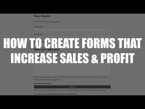 Episode 053: How To Create Forms That Increase Sales & Profit Podcast