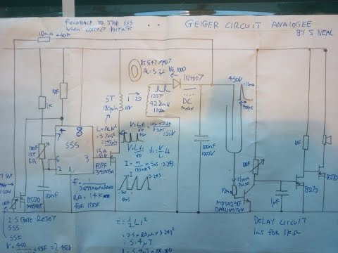 Simple Analogue High voltage Geiger counter circuit using 555 timer