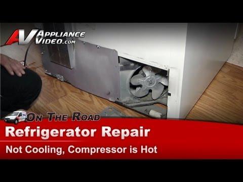 Amana Refrigerator Repair – Not cooling, compressor is hot – BR18V2W