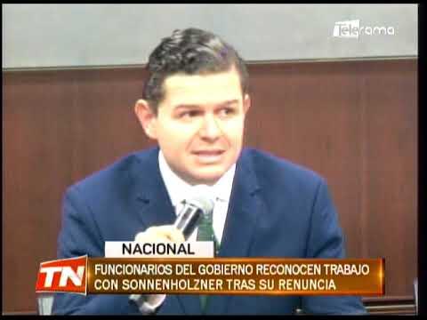 Funcionarios del gobierno reconocen trabajo con Sonnenholzner tras su renuncia