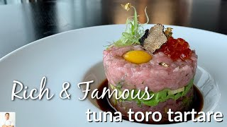 Tuna Toro Tartar For The Rich, Famous and Royalty | $60 Per Pound Fish by Diaries of a Master Sushi Chef