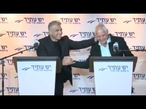Yair Lapid introducing Haim Yelin