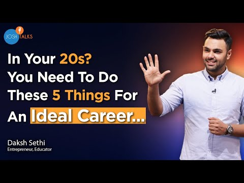 5 Golden Rules: To Start A Startup Or Work In A Corporate   Daksh Sethi   Josh Talks