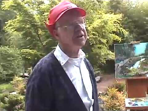 Charles Edmunds & Jerry Baron, Painting in Mingus Park, Coos Bay