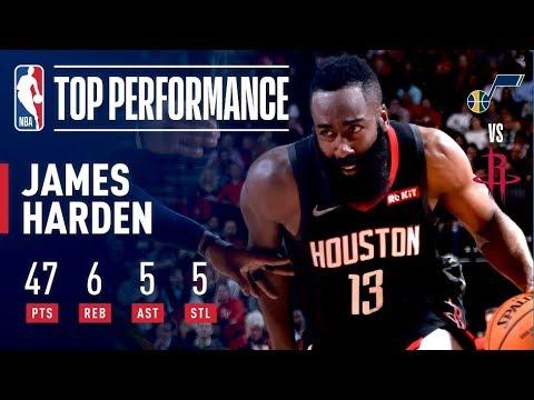 Video: James Harden Drops 47 Points as Houston Takes Down Utah   December 17, 2018