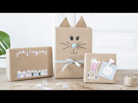 DIY Gift-wrapping Ideas With Cat Motifs By Søstrene Grene