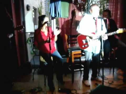 Schascle - Mack Doss sings his original hit song SPOOKY with Twinkle Schascle Yochim and her brother Tony LeClerc @ EAT HERE, Sarasota, Florida.. Lenny Brooks on guitar...