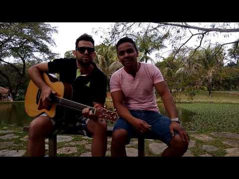 Thyago e Gabriel no hotel CEP Lago em Lagoa Santa