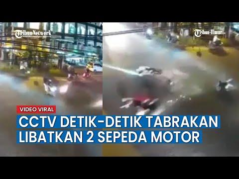 CCTV Tabrakan yg Melibatkan Dua Sepeda Motor