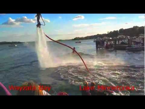 Flyboard Minnetonka Minnesota video of Fly board PWC Jet ski jet pack like jetlev, jet lev, rental