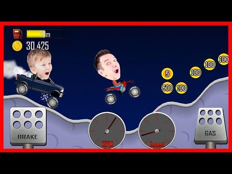 МАШИНКИ HILL CLIMB RACING гонки на Монстртраке Для Детей (видео)