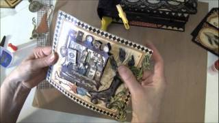 Part 19 How to build a photo mini album. Welcome to part 19 on this last video tutorial in this serial we are going to decorate the front cover and take on t...