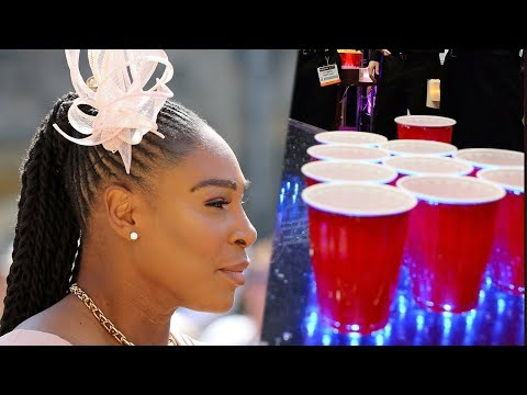 Serena Williams DOMINATED In Beer Pong At ROYAL WEDDING!