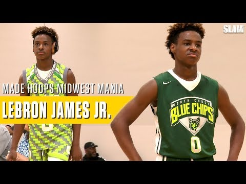 LeBron James Jr. makes it look EASY: Full Highlights Made Hoops Midwest Mania