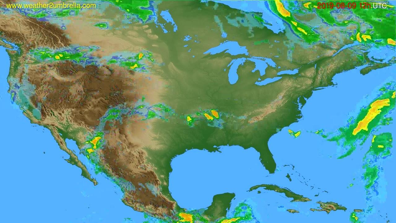 Radar forecast USA & Canada // modelrun: 00h UTC 2019-08-09