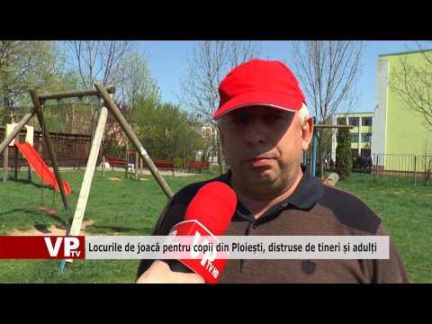 Locurile de joacă pentru copii din Ploiești, distruse de tineri și adulți