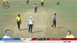 WAKI SPORTS vs NANA SPORTS ll AMDAR CHASHAK 2019 BHADVAD  || LIVE BY PRINCE MOVIES. DAY 04