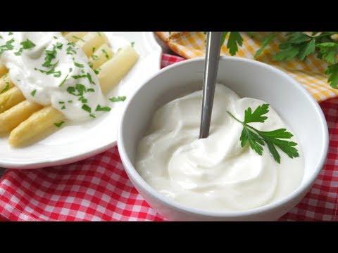 Mayonesa casera SIN HUEVO y con menos calorías que la mayonesa normal (igual de rica)