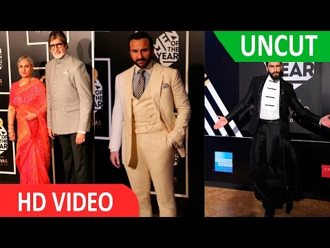 UNCUT-Amitabh Bachchan, Saif Ali Khan & Ranveer Singh At Red Carpet Of GQ Men Of The Year Awards