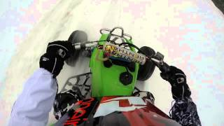 1. Snow riding 1988 Kawasaki mojave 250