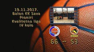 kk sava kk beovuk 66 53 (pioniri, 19 11 2017 ) košarkaški klub sava