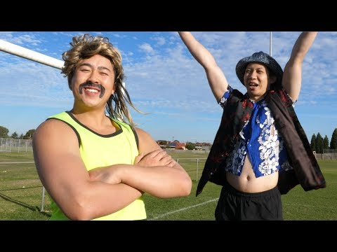 Aussie Teaches Chinaman - SOCCER