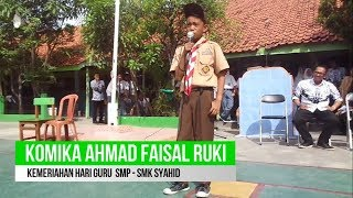 Download Video Stand Up Comedy Hari Guru SMP - SMK SYAHID MP3 3GP MP4