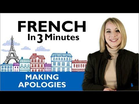 Wie man sich entschuldigt in Frankreich