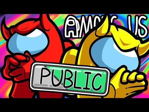 Among Us Funny Moments - Trolling Public Lobbies!