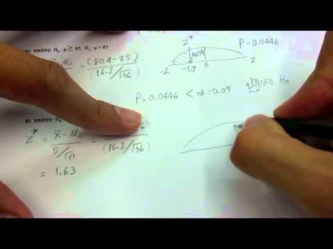 ติว stat พี่ภีม - เฉลยท้ายบทที่4 (P-value)